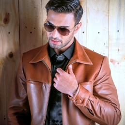 Leather Jacket by Hariom's Tailor