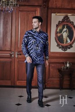 Batik Long Sleeve blue