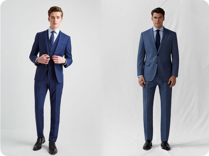 Different cut for suits